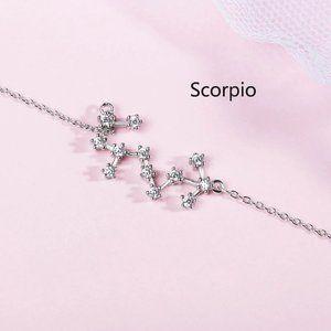*NEW 925 Sterling Silver Zodiac Bracelet-Scorpio